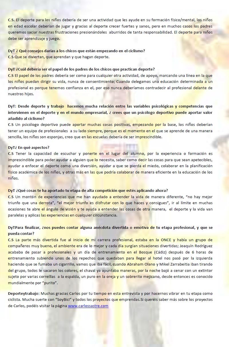Entrevista Carlos Sastre 2