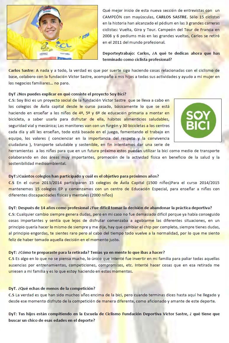 Entrevista Carlos Sastre
