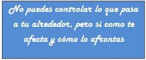 No puedes controlar...